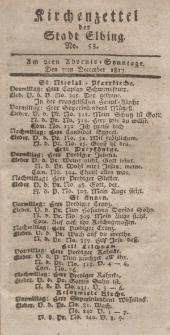 Kirchenzettel der Stadt Elbing, Nr. 53, 7 Dezember 1817