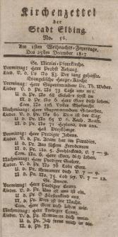 Kirchenzettel der Stadt Elbing, Nr. 56, 25 Dezember 1817