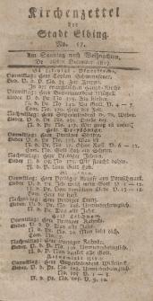 Kirchenzettel der Stadt Elbing, Nr. 57, 28 Dezember 1817