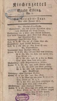 Kirchenzettel der Stadt Elbing, Nr. 1, 1 Januar 1815