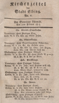 Kirchenzettel der Stadt Elbing, Nr. 6, 5 Februar 1815