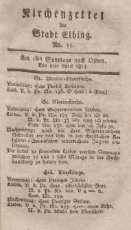 Kirchenzettel der Stadt Elbing, Nr. 15, 2 April 1815