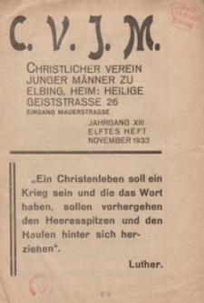 Das Blatt des CVJM, H. 11, Jahrgang XIII