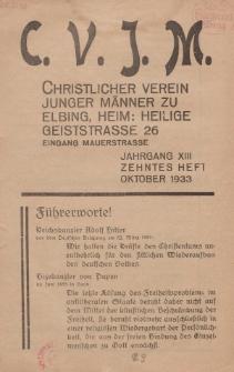 Das Blatt des CVJM, H. 10, Jahrgang XIII