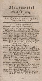 Kirchenzettel der Stadt Elbing, Nr. 20, 26 April 1818