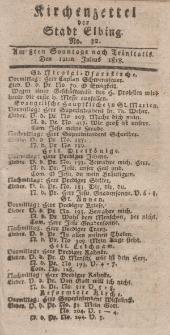 Kirchenzettel der Stadt Elbing, Nr. 32, 12 Juli 1818