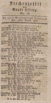 Kirchenzettel der Stadt Elbing, Nr. 38, 23 August 1818