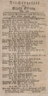 Kirchenzettel der Stadt Elbing, Nr. 39, 30 August 1818