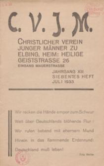 Das Blatt des CVJM, H. 7, Jahrgang XIII