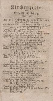 Kirchenzettel der Stadt Elbing, Nr. 46, 18 Oktober 1818