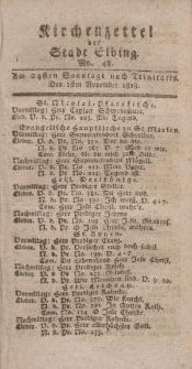 Kirchenzettel der Stadt Elbing, Nr. 48, 1 November 1818