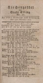 Kirchenzettel der Stadt Elbing, Nr. 50, 15 November 1818