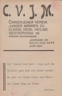 Das Blatt des CVJM, H. 6, Jahrgang XIII
