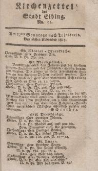 Kirchenzettel der Stadt Elbing, Nr. 51, 26 November 1815