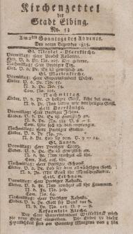 Kirchenzettel der Stadt Elbing, Nr. 53, 10 Dezember 1815