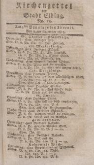 Kirchenzettel der Stadt Elbing, Nr. 55, 24 Dezember 1815