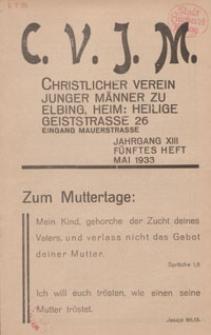 Das Blatt des CVJM, H. 5, Jahrgang XIII