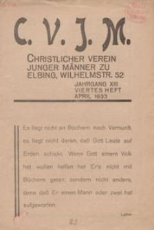 Das Blatt des CVJM, H. 4, Jahrgang XIII
