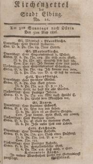 Kirchenzettel der Stadt Elbing, Nr. 21, 5 Mai 1816