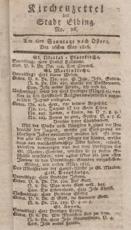 Kirchenzettel der Stadt Elbing, Nr. 26, 26 Mai 1816