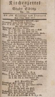 Kirchenzettel der Stadt Elbing, Nr. 29, 16 Juni 1816