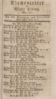 Kirchenzettel der Stadt Elbing, Nr. 30, 23 Juni 1816