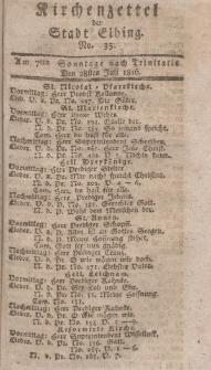 Kirchenzettel der Stadt Elbing, Nr. 35, 28 Juli 1816