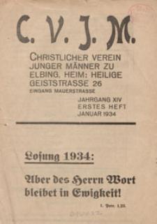 Das Blatt des CVJM, H. 1, Jahrgang XIV