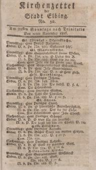 Kirchenzettel der Stadt Elbing, Nr. 50, 10 November 1816