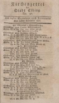 Kirchenzettel der Stadt Elbing, Nr. 52, 24 November 1816