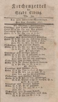 Kirchenzettel der Stadt Elbing, Nr. 54, 8 Dezember 1816