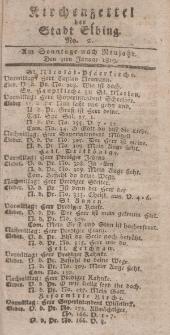 Kirchenzettel der Stadt Elbing, Nr. 2, 3 Januar 1819