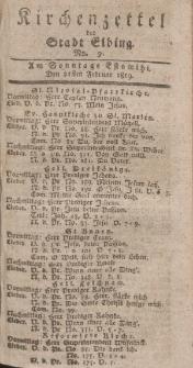 Kirchenzettel der Stadt Elbing, Nr. 9, 21 Februar 1819