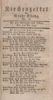 Kirchenzettel der Stadt Elbing, Nr. 20, 2 Mai 1819