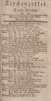 Kirchenzettel der Stadt Elbing, Nr. 22, 9 Mai 1819