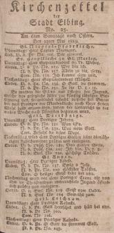 Kirchenzettel der Stadt Elbing, Nr. 25, 23 Mai 1819