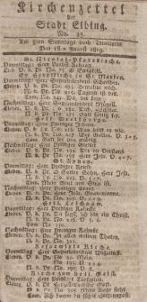 Kirchenzettel der Stadt Elbing, Nr. 35, 1 August 1819