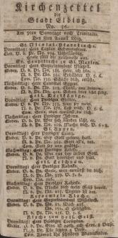 Kirchenzettel der Stadt Elbing, Nr. 36, 8 August 1819