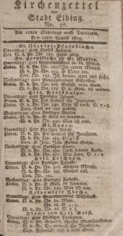 Kirchenzettel der Stadt Elbing, Nr. 37, 15 August 1819