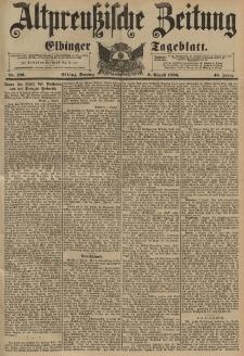 Altpreussische Zeitung, Nr.186 Sonntag 9 August 1896, 48. Jahrgang
