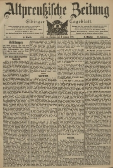 Altpreussische Zeitung, Nr. 3 Sonntag 4 Januar 1903, 55. Jahrgang