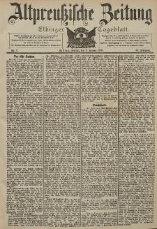 Altpreussische Zeitung, Nr. 7 Freitag 9 Januar 1903, 55. Jahrgang