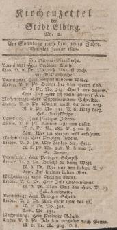 Kirchenzettel der Stadt Elbing, Nr. 2, 3 Januar 1813