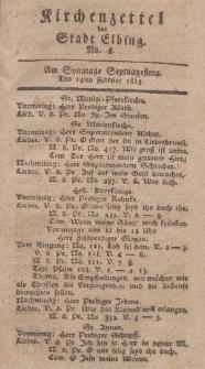 Kirchenzettel der Stadt Elbing, Nr. 8, 14 Februar 1813