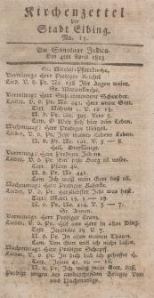 Kirchenzettel der Stadt Elbing, Nr. 15, 4 April 1813