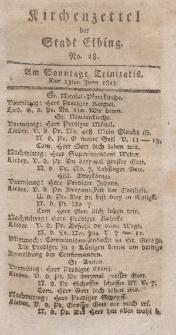 Kirchenzettel der Stadt Elbing, Nr. 28, 13 Juni 1813