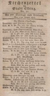 Kirchenzettel der Stadt Elbing, Nr. 35, 1 August 1813