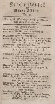 Kirchenzettel der Stadt Elbing, Nr. 43, 26 September 1813