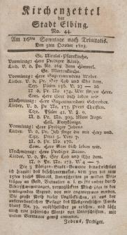 Kirchenzettel der Stadt Elbing, Nr. 44, 3 Oktober 1813