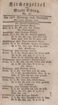 Kirchenzettel der Stadt Elbing, Nr. 46, 17 Oktober 1813